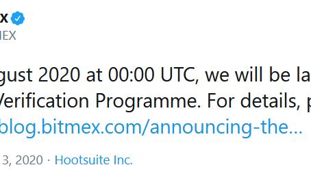 Bitmex Introducing KYC