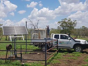 solar panels and solar pump install