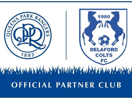 Queens Park Rangers FC& Delaford ColtsFCin Partnership!