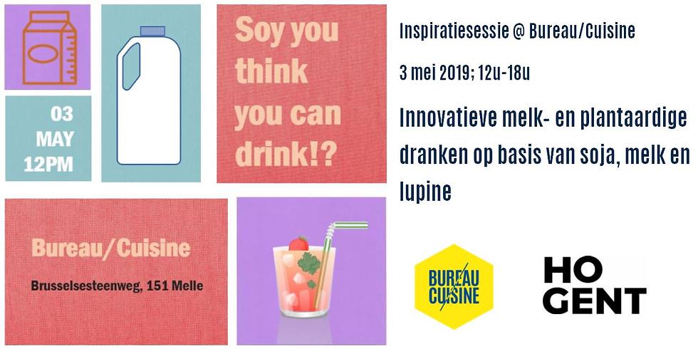 Soy you think you can drink: inspiratienamiddag innovatieve melk- en plantaardige dranken