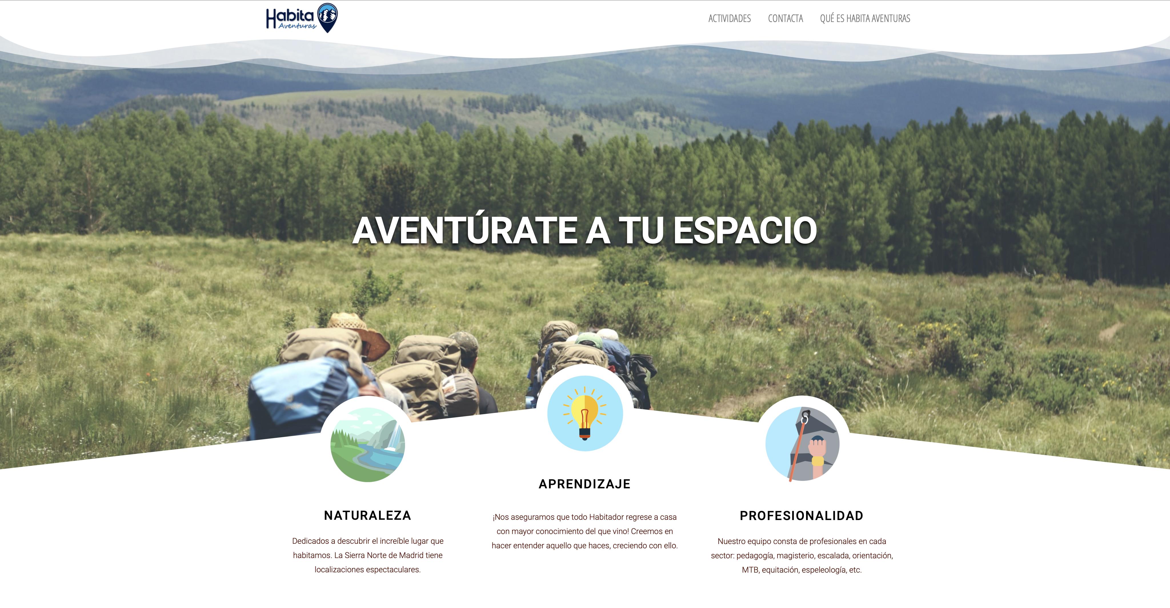 Web / Empresa multiaventuras