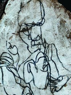 Détail de stèle céramique