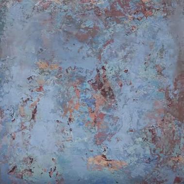 Fragment, technique mixte sur toile, 60x60 - Disponible