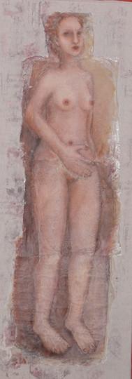 Elle. Peinture en technique mixte-Inès LSM