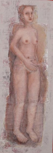 Elle. Peinture en technique mixte- Disponible