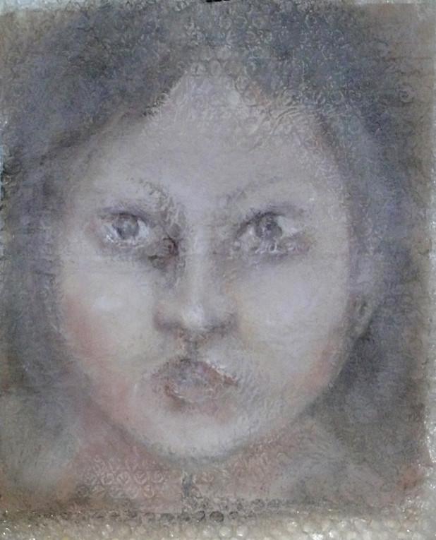 Portrait sur toile- Disponible