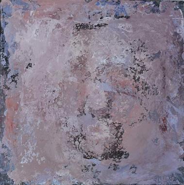 Fragment, technique mixte sur toile, 30x30 - Disponible