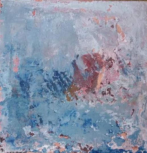 Fragment, technique mixte sur toile, 30x30 - Disponible - Inès LSM