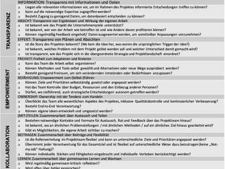 Checkliste: Autonomie für Projektteams
