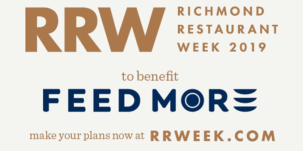 Richmond Restaurant Week  October 22-27, 2019