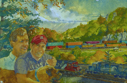 Chuck and Emmett at Horseshoe Curve
