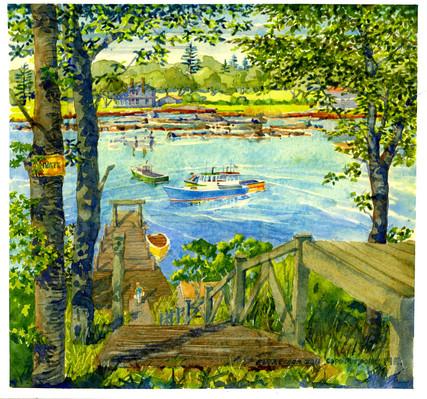 Private Dock, Cape Porpoise, ME