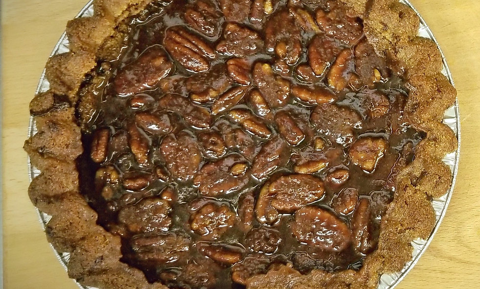 Large Pie: Pecan Pie or Salted Caramel Apple Pie