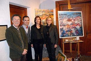 Jean Louis Droit, Alex Bertaina, Céline Combes e Annie Droit-Girard