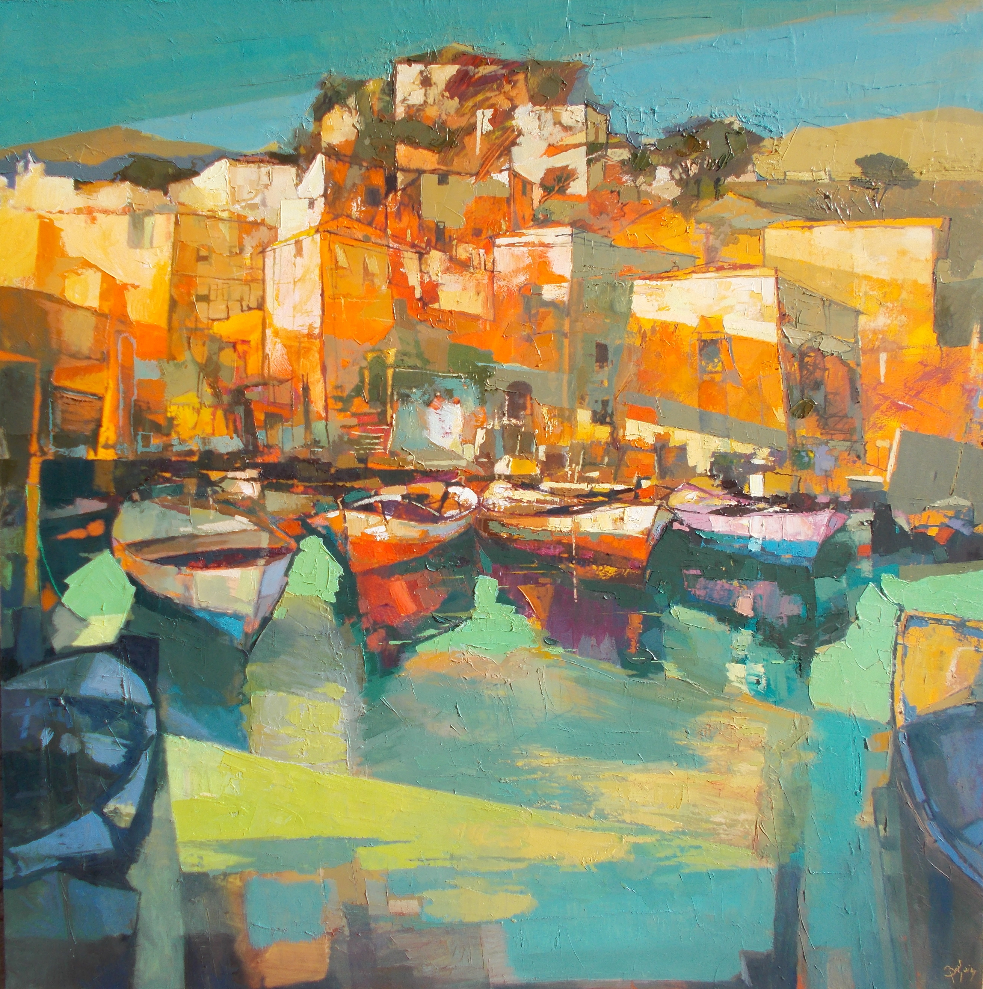 Danse des couleurs entre le bateaux