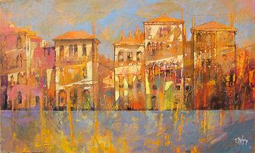 Palazzi veneziani, Oil on canvas 50x30 2015 Alex Bertaina