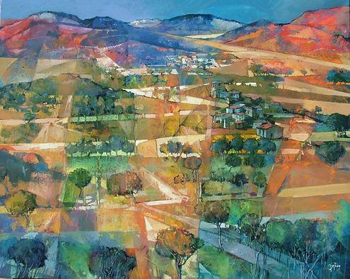 Collines rouges en Toscane 72x93 Oil on canvas 2013.jpg