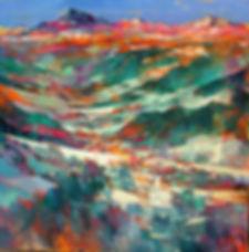 Triomphe de l'automne à Megève  80x80 Oil on canvas 2014 Alex Bertaina