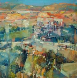 Village dans le collines