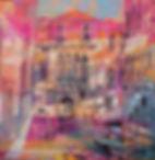 Taglio veneziano 60x60 Olio su tela