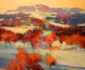 Neige sur le Luberon 73x60 Olio su tela Alex Bertaina