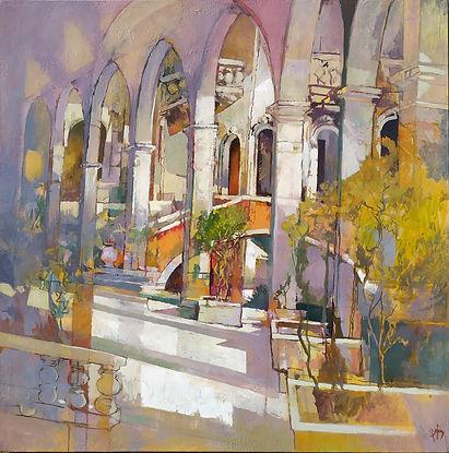 The secret bridge in Venice 60x60 Oil on canvas 2020 redmi2.jpg