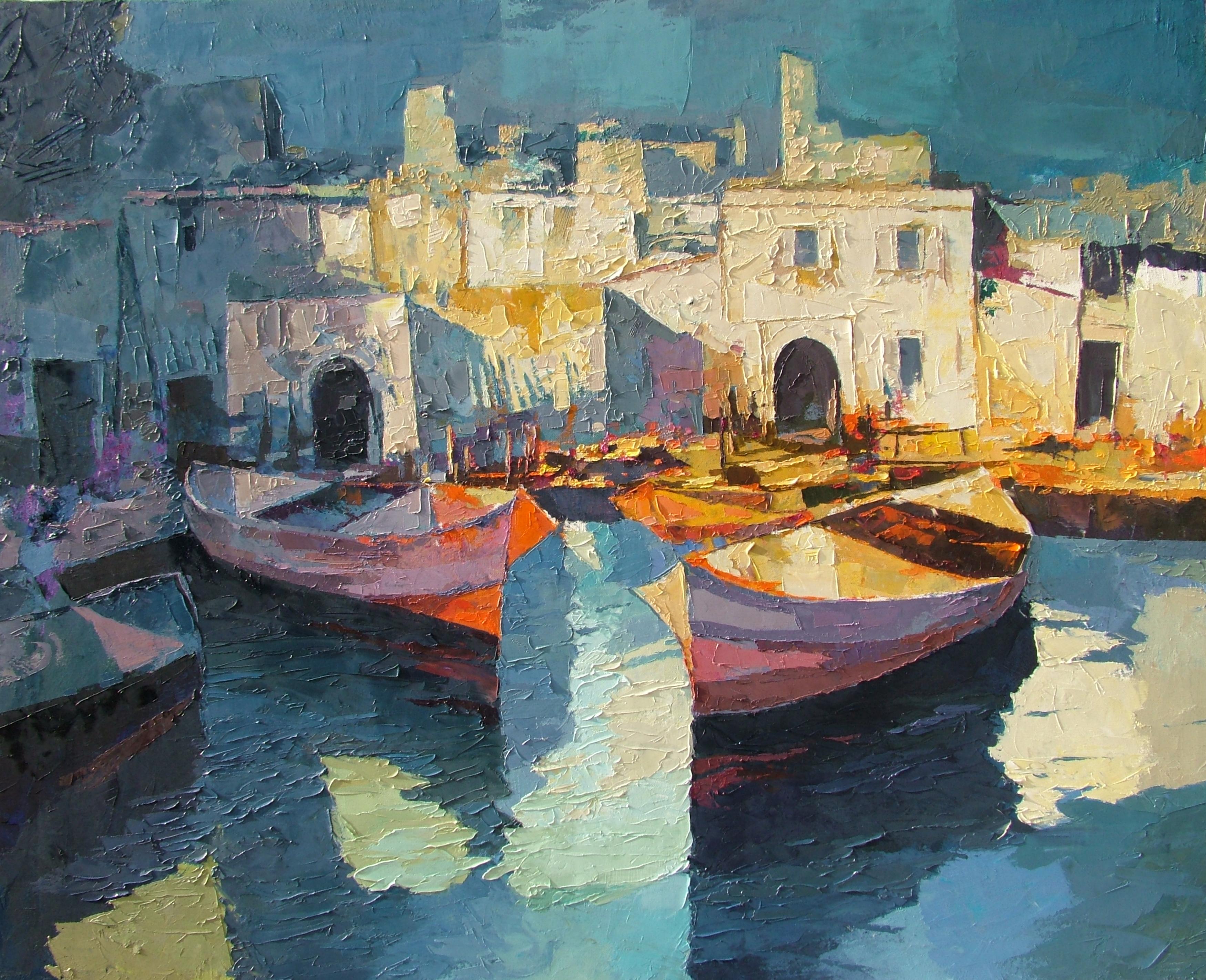 Il porto illuminato