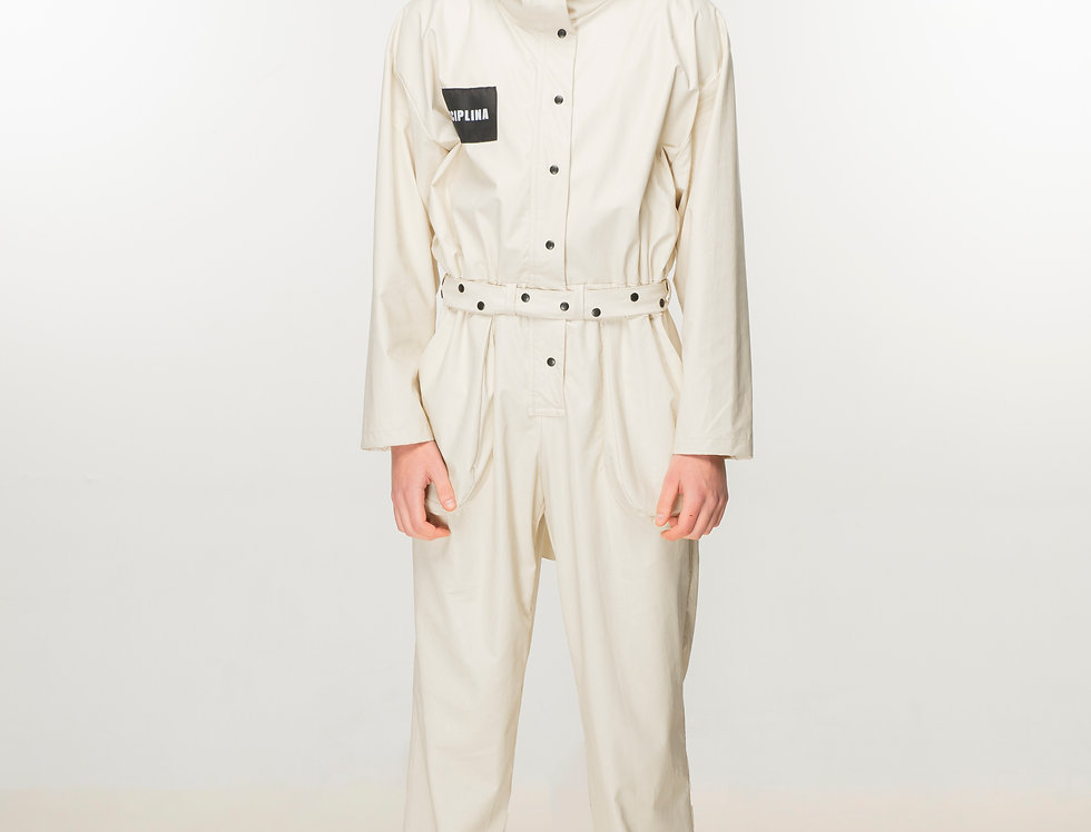 Console faux leather jumpsuit / Console faux kombinezon