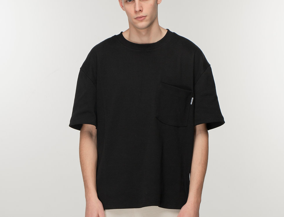 Console oversized ribbed T shirt