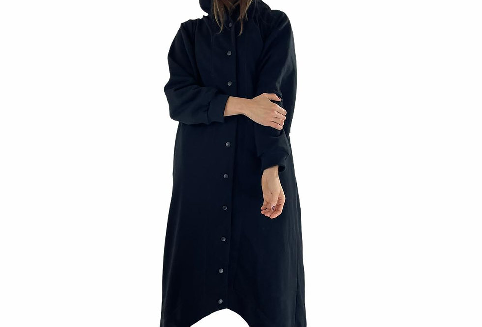 Console OVERSIZED DRESS ROBE in black