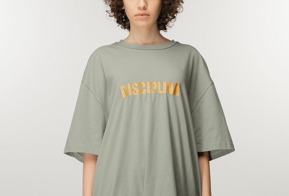 DISCIPLINA OVERSIZED T SHIRT WITH EMBROIDERED LOGO / Disciplina oversized majica