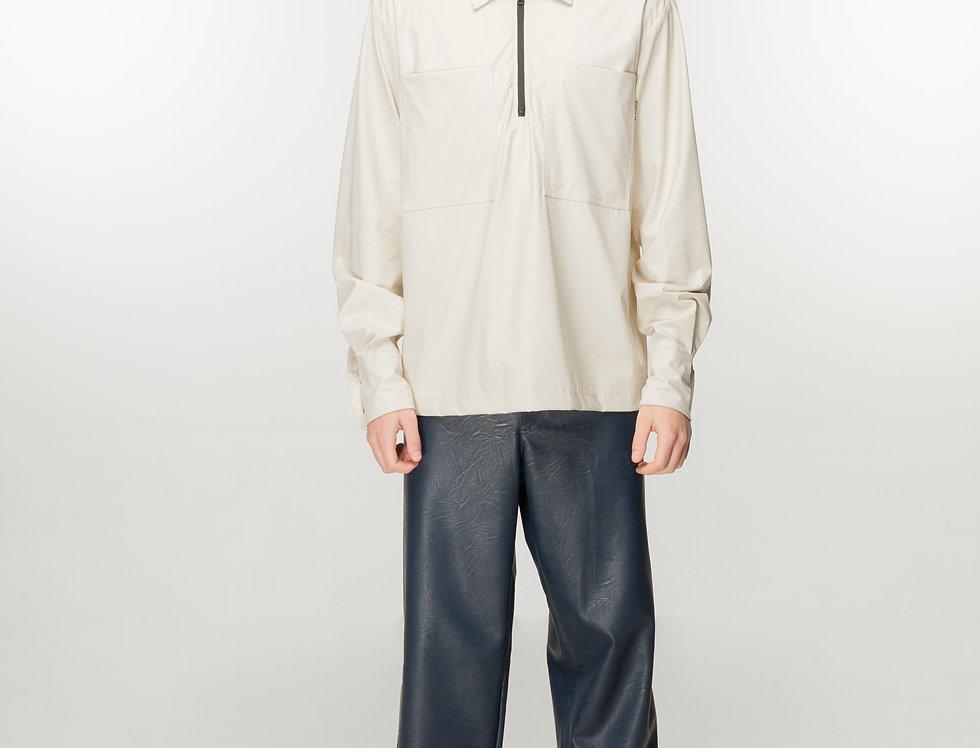 Console Retro Navy faux leather pants / Console Retro teget pantalone