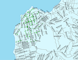 Village of La Jolla scooter corrals with