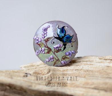 lampwork murano glass bead handmade pend