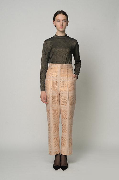 Light Bronze - Belt Adjust Trouser Pants