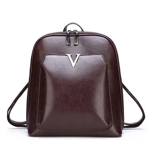 Рюкзак коричневый, эко кожа.