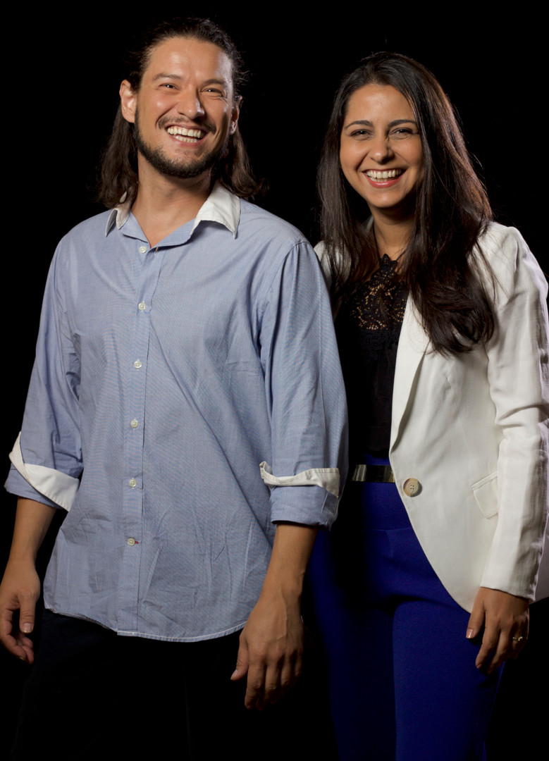 Gustavo Martinez e Tati Peres