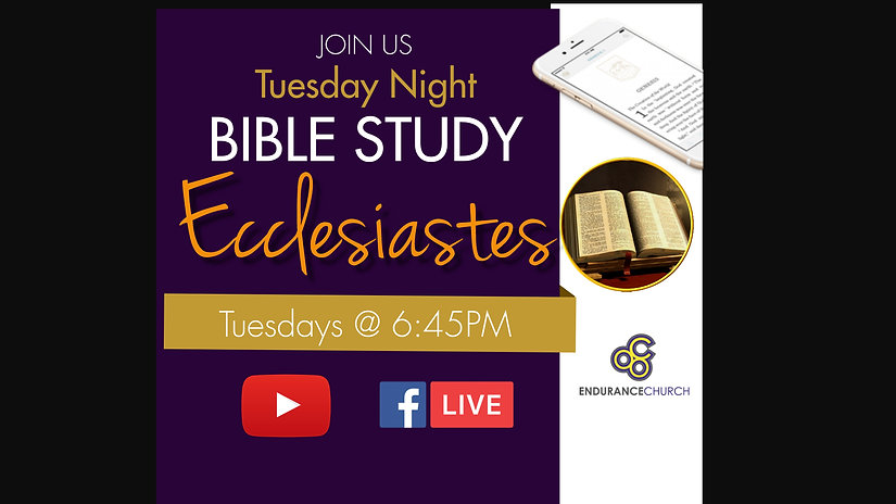 Ecclesiastes Bible Study - Made with Pos