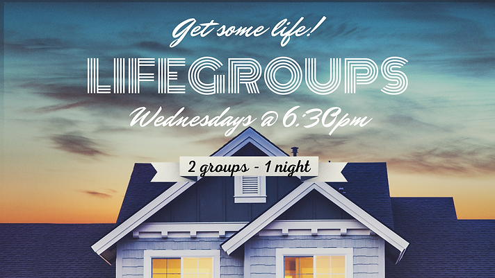 Life groups join one!