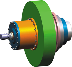 CPD3 Standard CPD drive KA with hydraulically operated wet running clutch brake combination Lutex HK