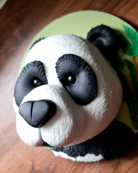 Panda Sculpted Cake