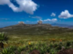 The twin Zigit peaks on Abune Yosef Massif