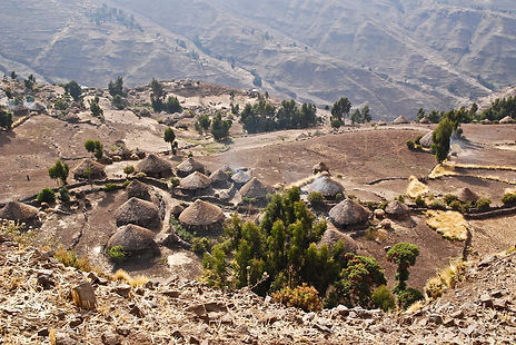 Homestay trekking tour near Lalibela. camping on the locals grownd