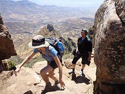 Hiking above Lalibela