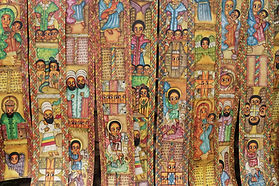 Traditional Ethiopian church paintings