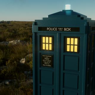One TARDIS - Parked