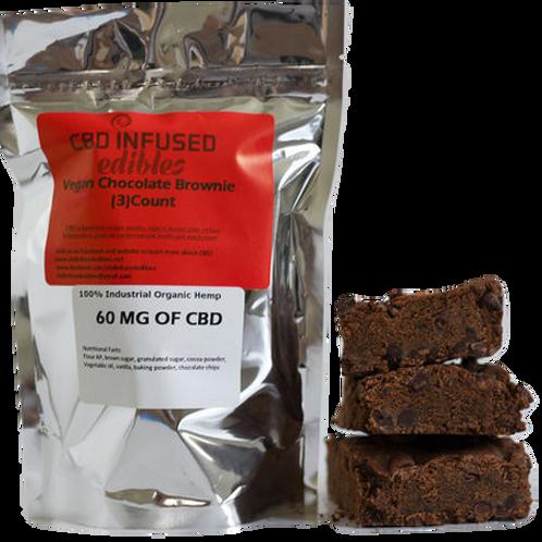 CBD Infused Edibles: Vegan CBD Chocolate Brownie (60mg)