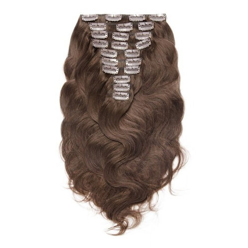 Chocolate Brown #4 Body Wave Clip In Hair Extensions