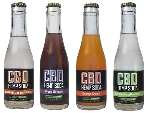 Cannabinoid Creations: Mix & Match CBD Hemp Soda 4-Pack (25mg)