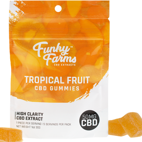 Funky Farms: Tropical Fruit CBD Gummies (50mg)